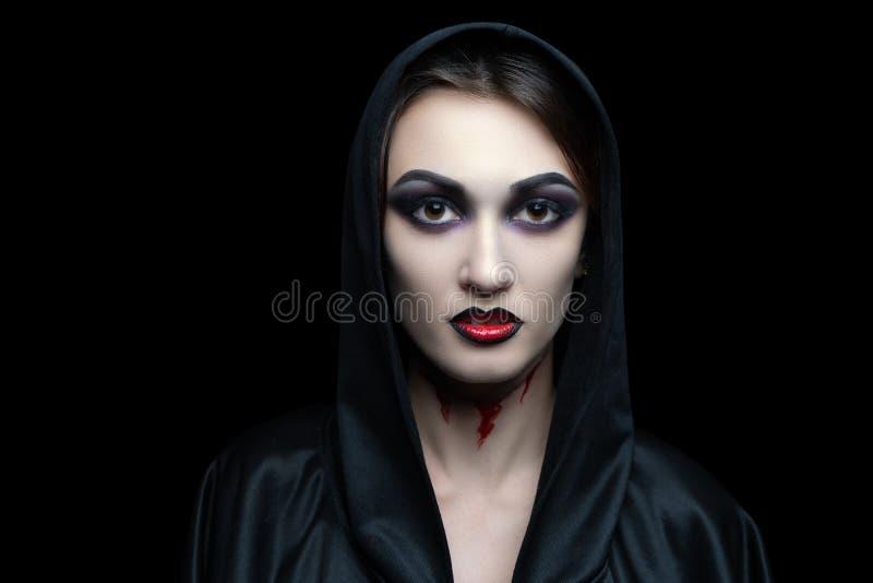 Il vampiro spaventoso compensa Halloween fotografia stock