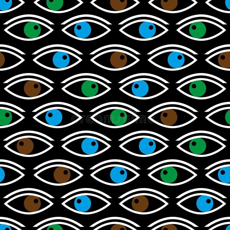 Il vario colore osserva esaminandovi modello senza cuciture eps10 del nero royalty illustrazione gratis
