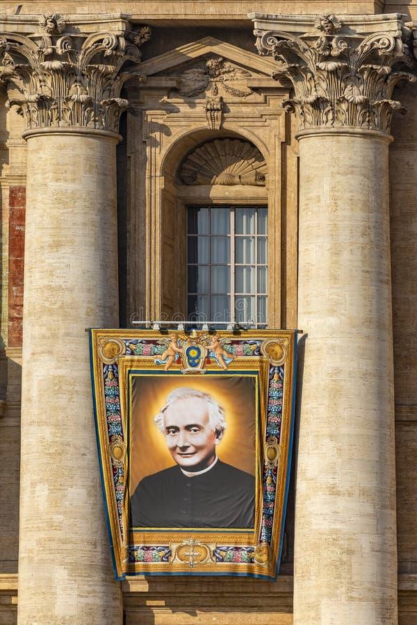 Il Vaticano, la basilica di St Peter, l'immagine del padre Francesco Spinelli immagini stock