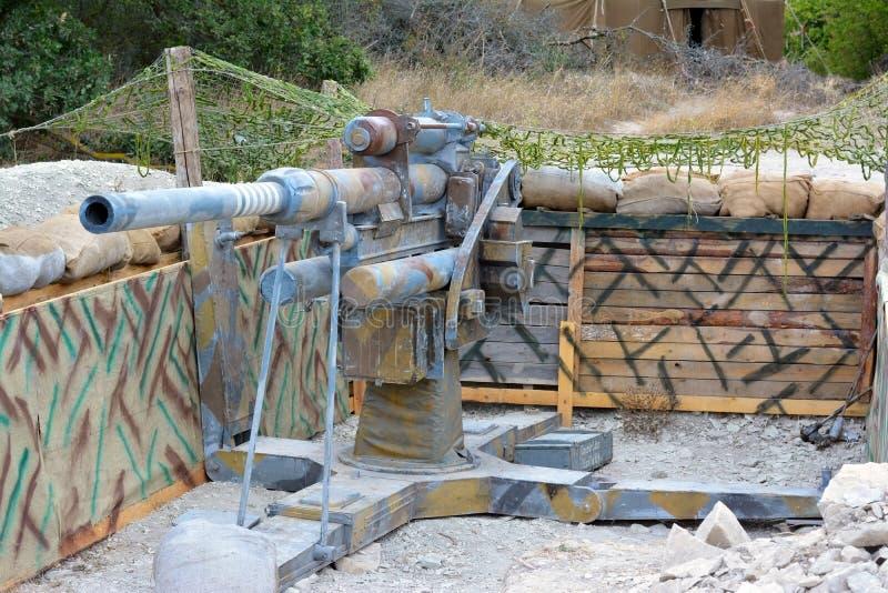 Il vecchio cannone tedesco fotografie stock