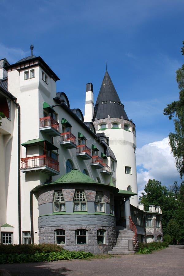 Il vecchio castello del jugend ha chiamato Valtionhotelli fotografie stock libere da diritti