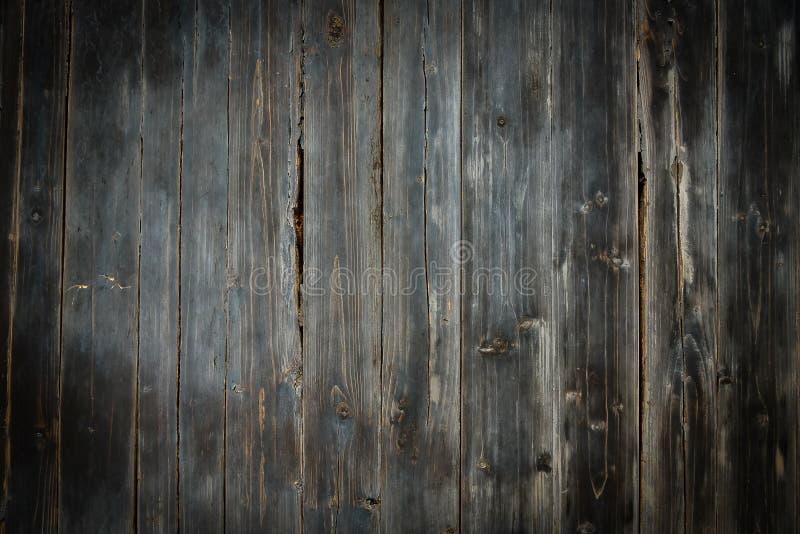 Il vecchio di legno grigio scuro di fondo dall'albero naturale Fondo vuoto di struttura di legno per progettazione immagini stock libere da diritti