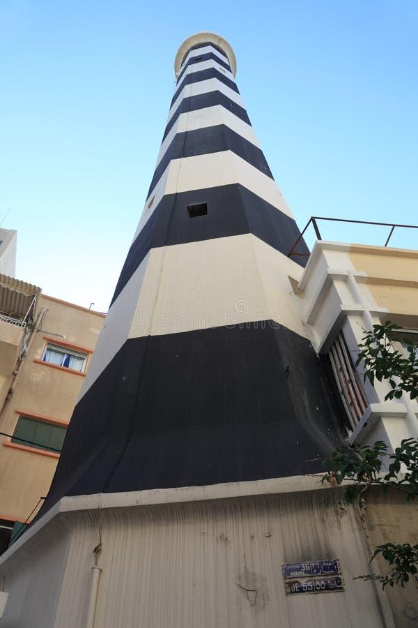 Il vecchio faro di Manara, Beirut Libano fotografia stock