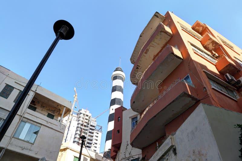Il vecchio faro di Manara, Beirut Libano immagini stock
