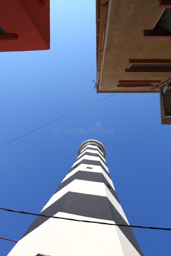 Il vecchio faro di Manara, Beirut Libano immagine stock libera da diritti