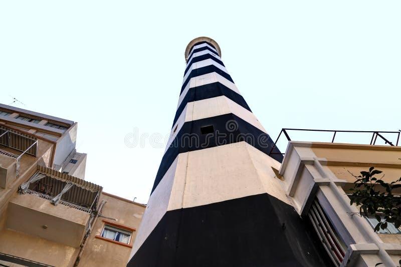 Il vecchio faro di Manara, Beirut Libano immagine stock