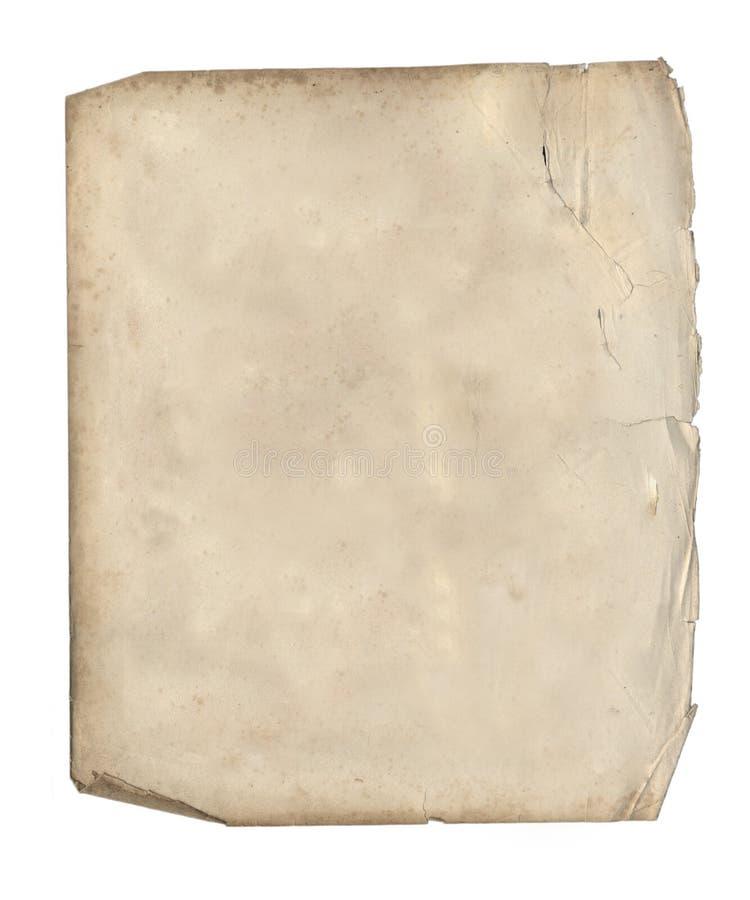 Il vecchio foglio di carta. fotografia stock