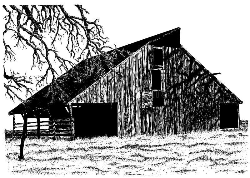 Il vecchio granaio del Roberts illustrazione vettoriale