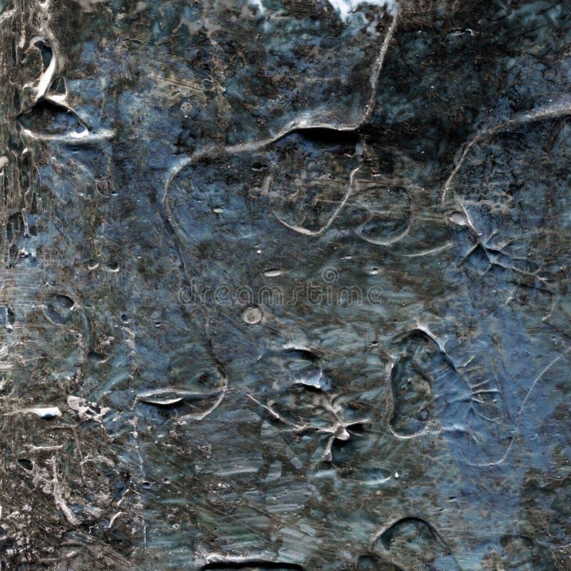 Il vecchio gray astratto ha dipinto l'acrilico o le pitture ad olio strutturano il fondo illustrazione vettoriale