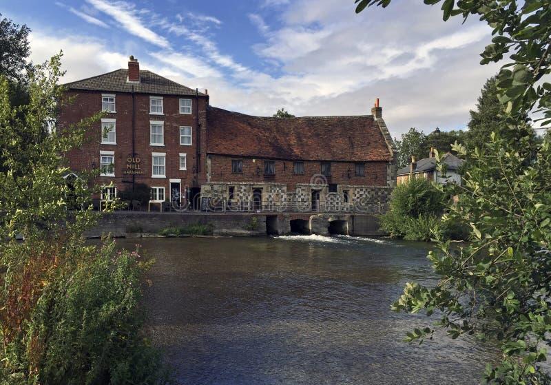 Il vecchio mulino Harnham Salisbury fotografia stock