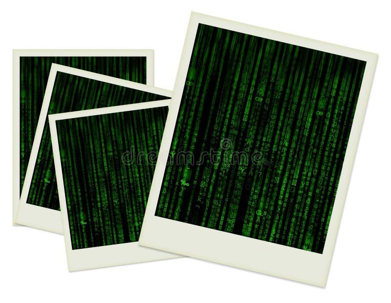 Il vecchio nero del polaroid all'interno fotografia stock
