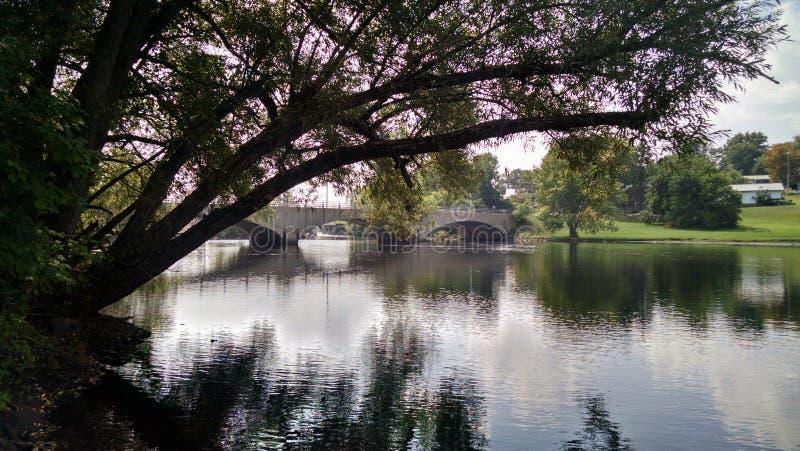 Il vecchio ponte fotografia stock
