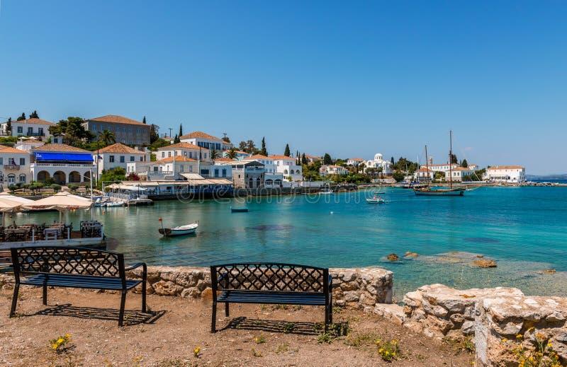 Il vecchio porto in Spetses immagine stock