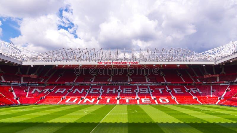 Il vecchio stadio di Trafford fotografie stock libere da diritti