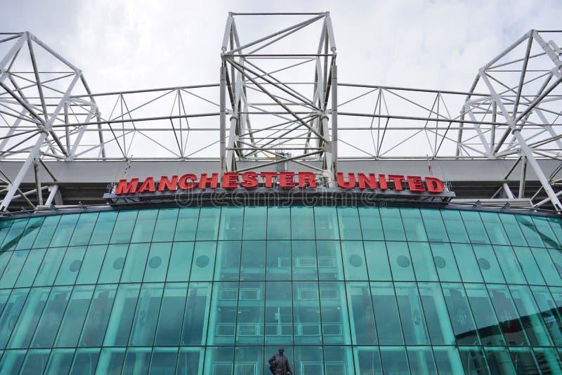 Il vecchio stadio di Trafford di Manchester United immagini stock libere da diritti