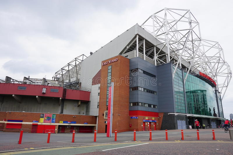 Il vecchio stadio di Trafford di Manchester United immagine stock libera da diritti