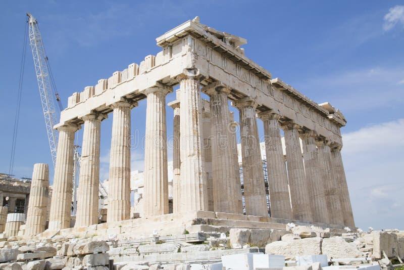 Il vecchio tempio di Atena a Atene fotografia stock