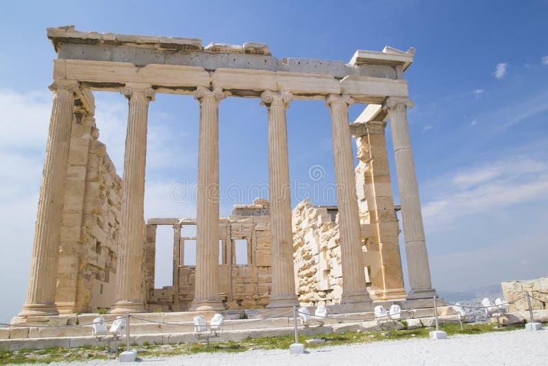 Il vecchio tempio di Atena a Atene immagine stock