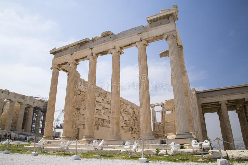 Il vecchio tempio di Atena a Atene fotografia stock libera da diritti