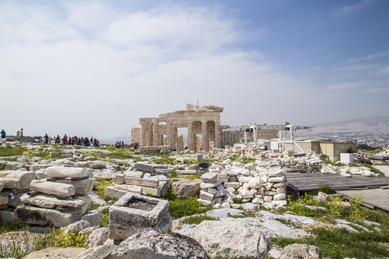 Il vecchio tempio di Atena a Atene immagine stock libera da diritti