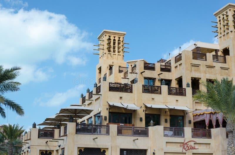 Il vecchio vento si eleva, l'architettura araba, Dubai, UAE immagini stock libere da diritti