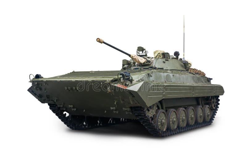 Il veicolo da combattimento della fanteria BMP-2 è in servizio con l'esercito russo Isolato su priorit? bassa bianca fotografia stock libera da diritti