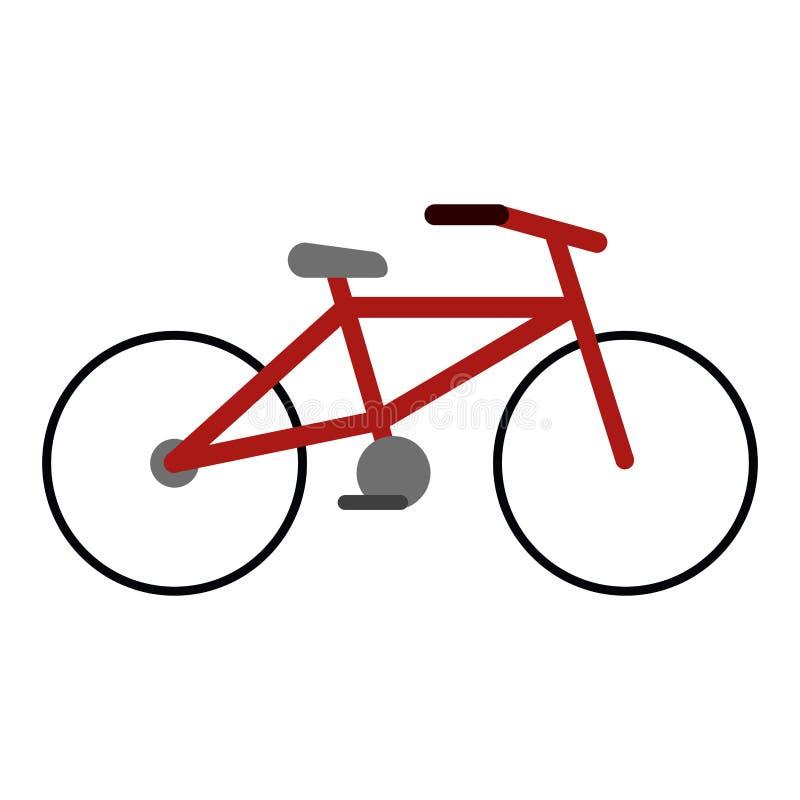 Il veicolo di sport della bicicletta ha isolato royalty illustrazione gratis