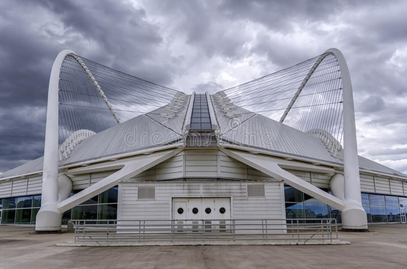 Il velodromo olimpico di Atene agli sport olimpici di Atene complessi fotografie stock