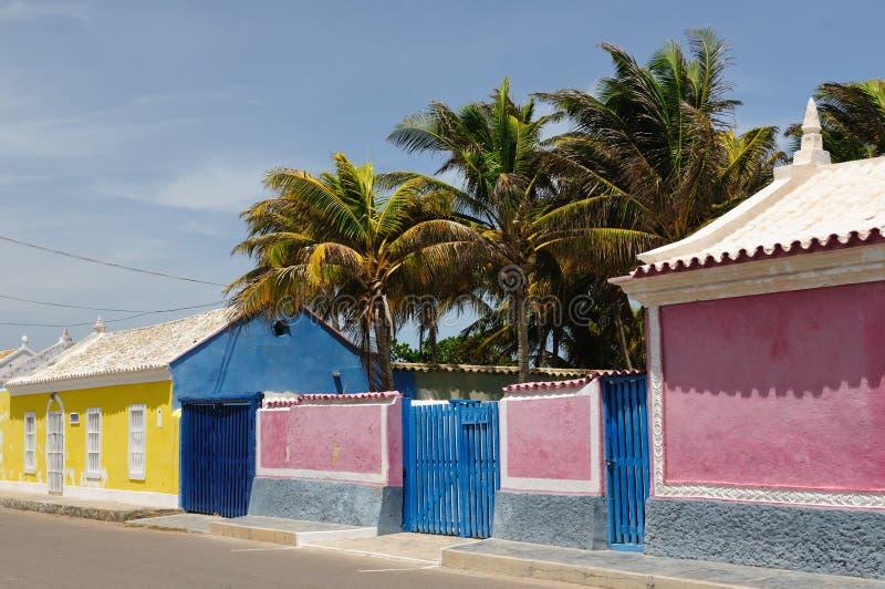 Il Venezuela, vista sul paesino di pescatori di Adicora fotografia stock libera da diritti