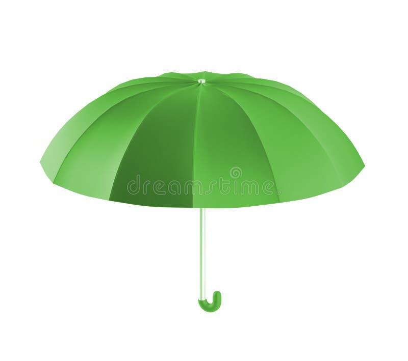Il verde dell'ombrello, 3d rende illustrazione di stock