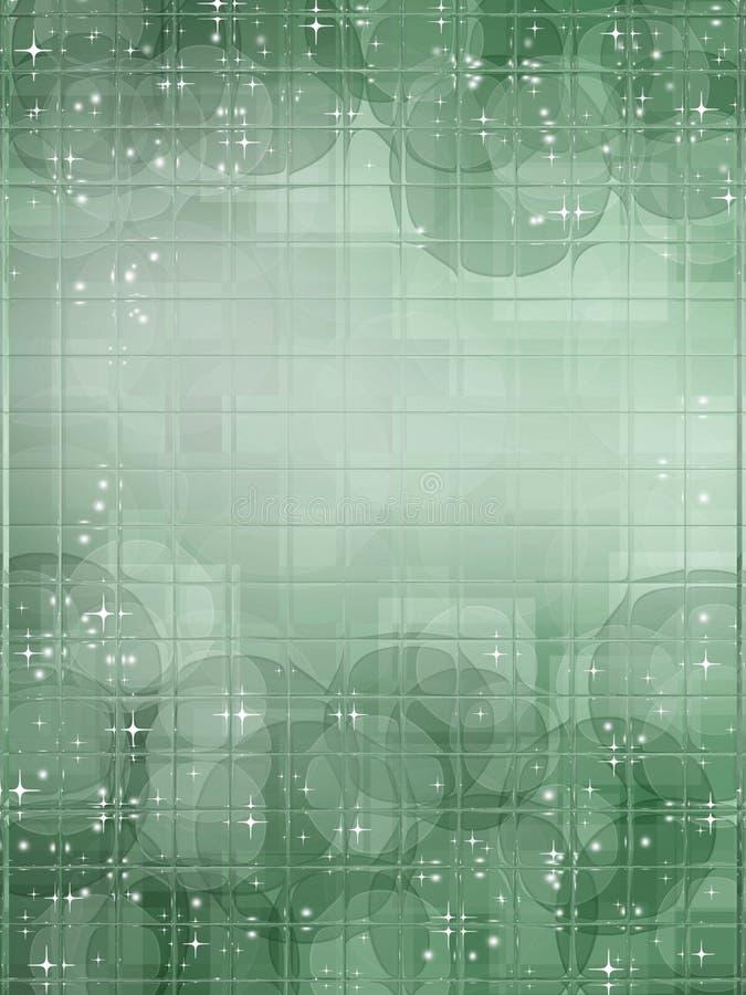 Il verde ha quadrato il fondo illustrazione vettoriale