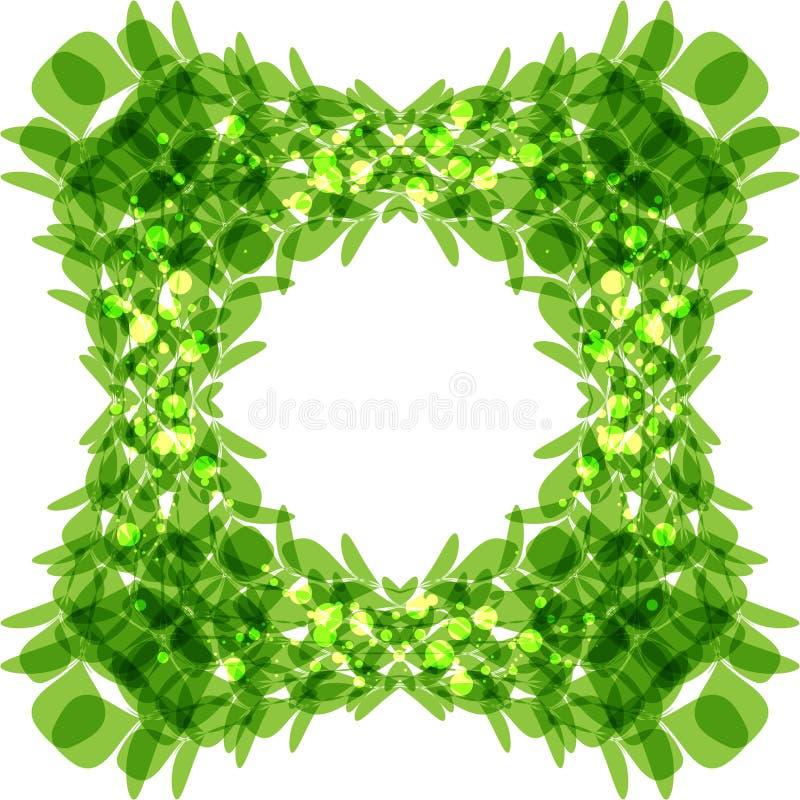 Il verde lascia il blocco per grafici royalty illustrazione gratis