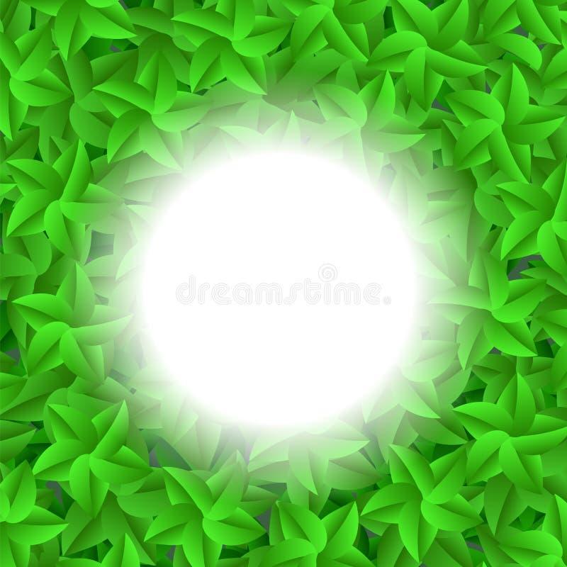 Il verde lascia il reticolo L'estate lascia il fondo illustrazione vettoriale