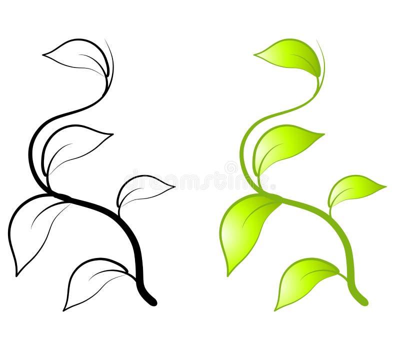 Il verde lascia l'arte di clip della vite