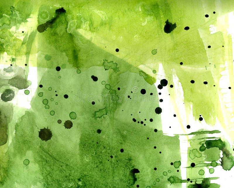 Il verde macchia il fondo di Braga watercolor illustrazione di stock