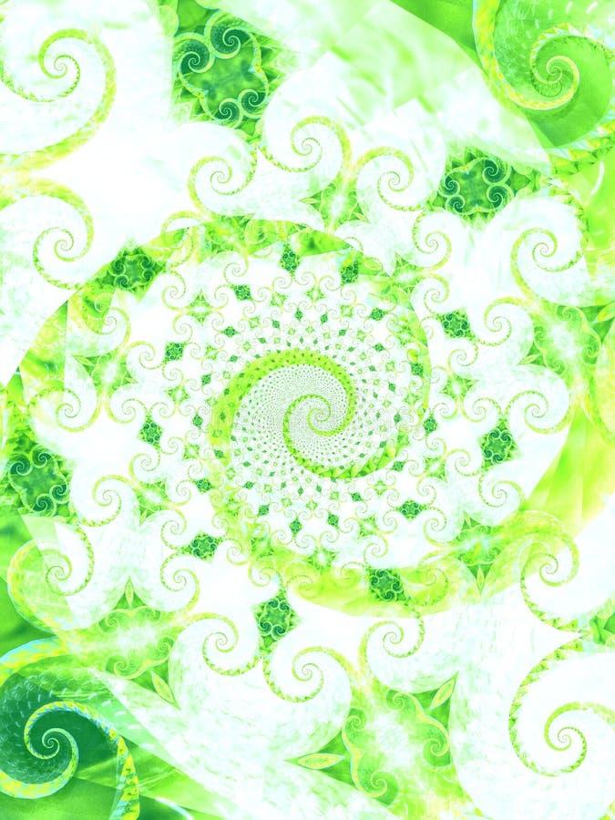 Il verde piacevole lascia a viti la spirale illustrazione vettoriale