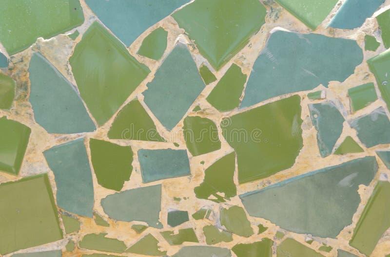 Il verde piastrella il mosaico fotografia stock