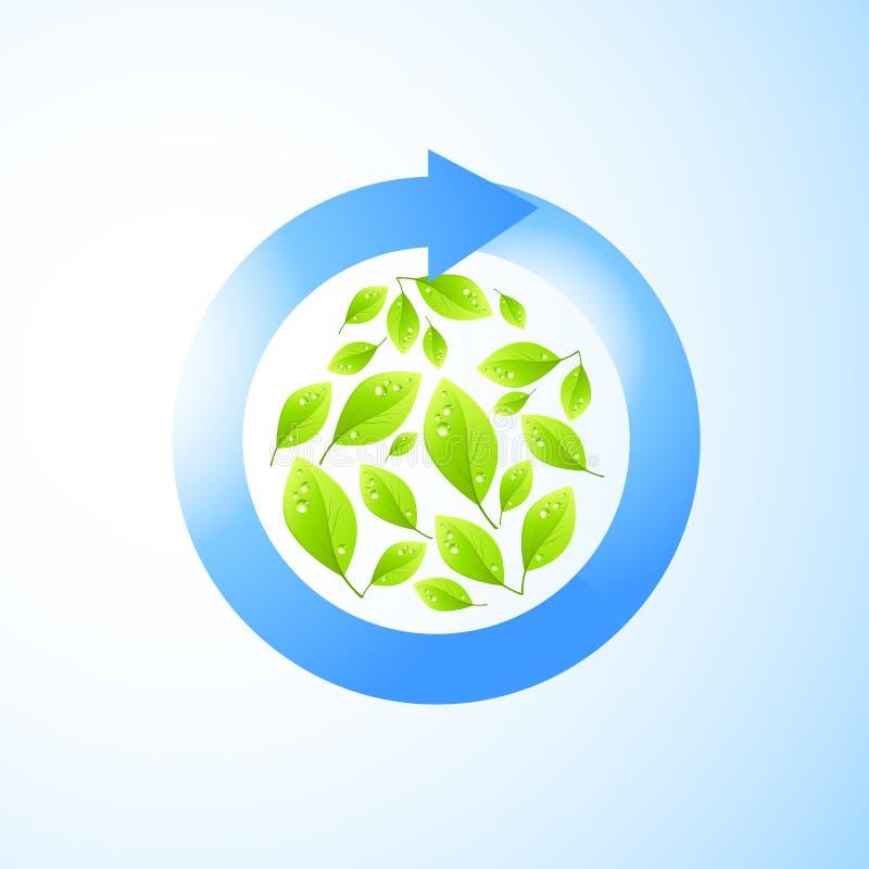 Il verde ricicla l'elemento illustrazione vettoriale
