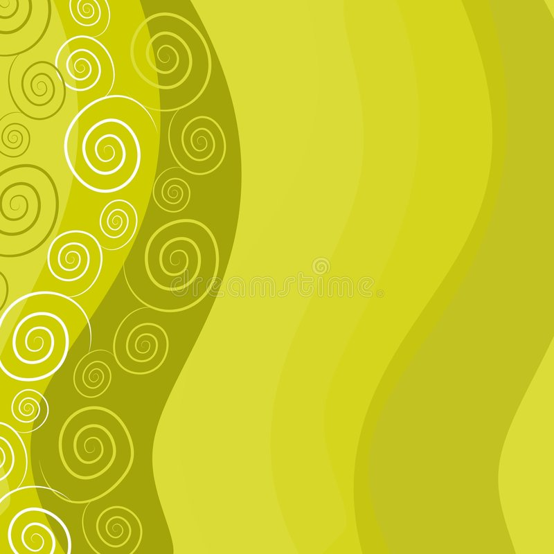 Il verde si sviluppa a spiraleare priorità bassa royalty illustrazione gratis