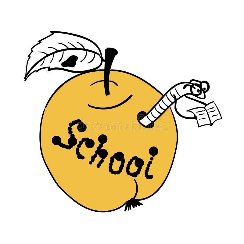 Il verme dello scienziato si è costruito un'illustrazione comica della scuola illustrazione vettoriale
