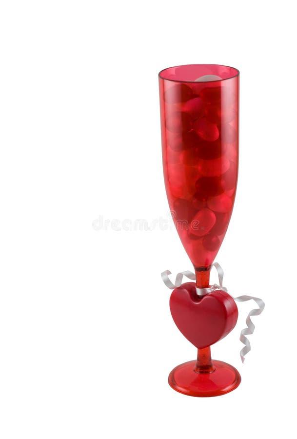 Il vetro dei fagioli di gelatina ha isolato immagine stock