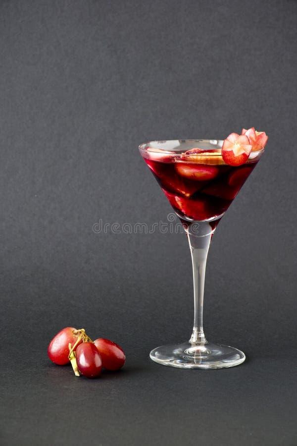 Il vetro di sangria fotografia stock