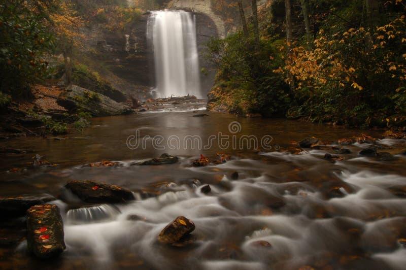 Il vetro di sguardo cade in autunno fotografia stock