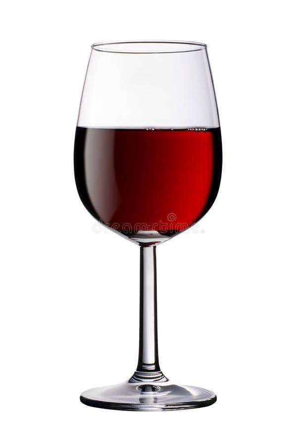 Il vetro di vino rosso ha isolato il percorso di residuo della potatura meccanica incluso fotografie stock libere da diritti