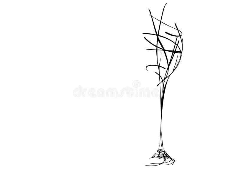 Il vetro di vino stilizzato illustrazione vettoriale