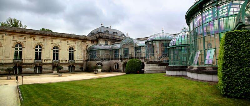 Il vetro e l'industria siderurgica complessi del castello reale delle serre di Laeken a Bruxelles Belgio immagine stock libera da diritti