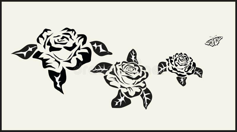 Il vettore è aumentato icone tatuaggio illustrazione di stock