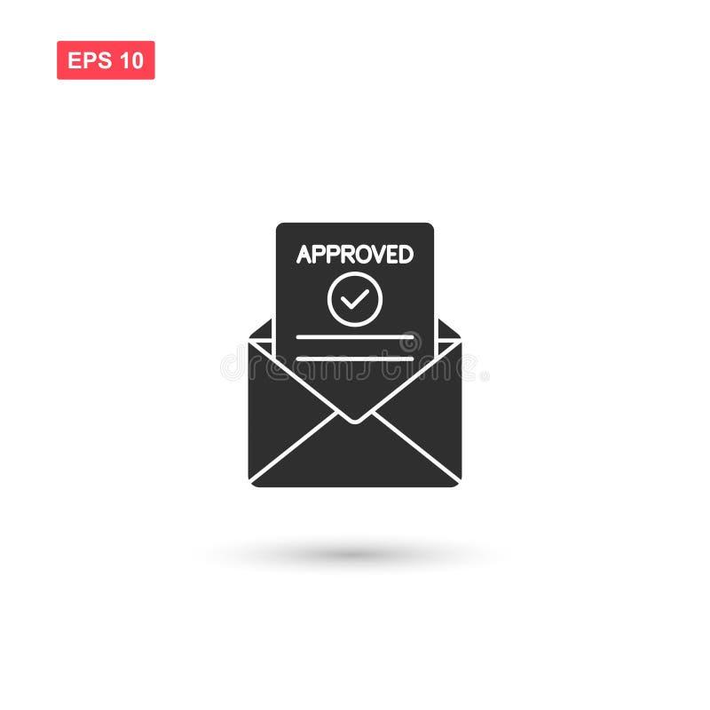 Il vettore approvato della posta ha isolato 2 illustrazione vettoriale