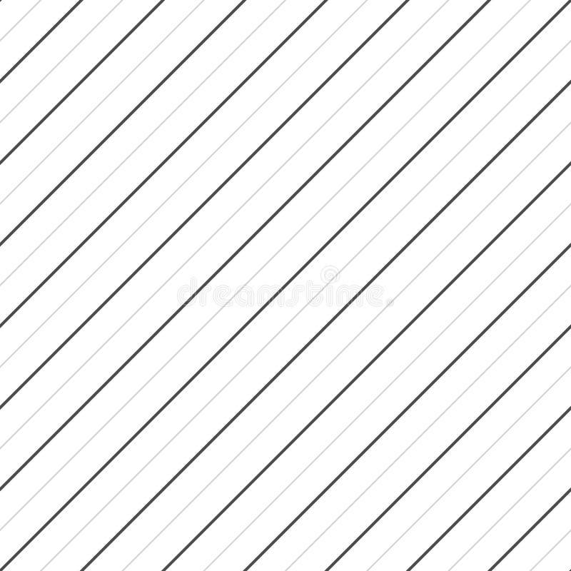 Il vettore barra il modello senza cuciture Linee diagonali sottili struttura Reticolo a strisce illustrazione vettoriale