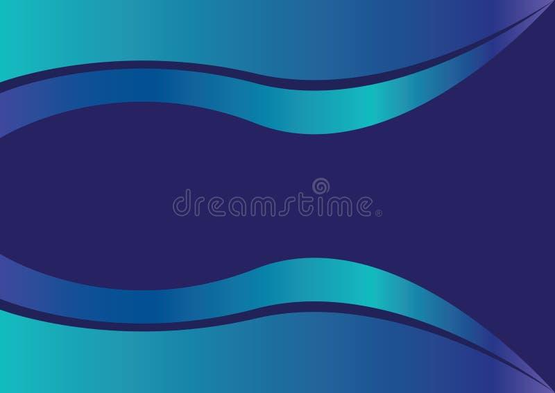 Il vettore blu del fondo della curva ha creato la tela royalty illustrazione gratis